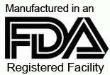 Manufactured in an FDA registered facility