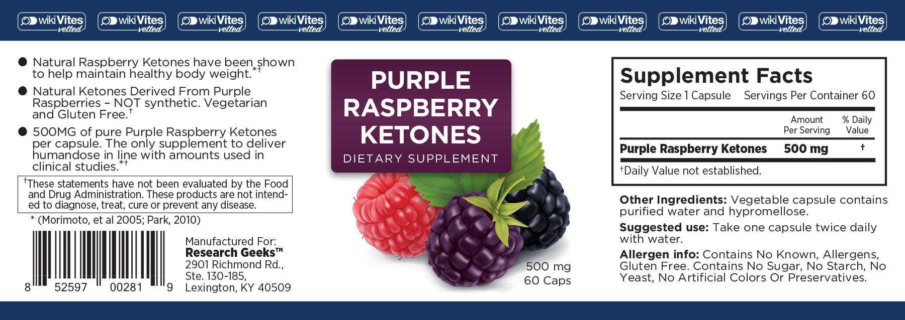 Purple Raspberry Ketones
